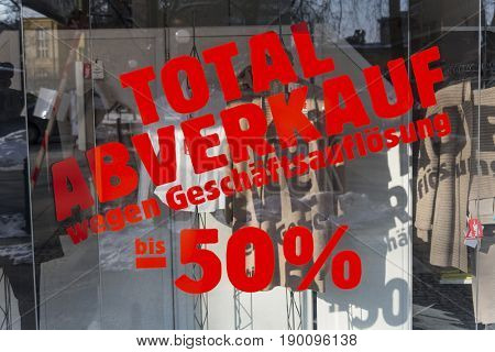 total sales - liquidation