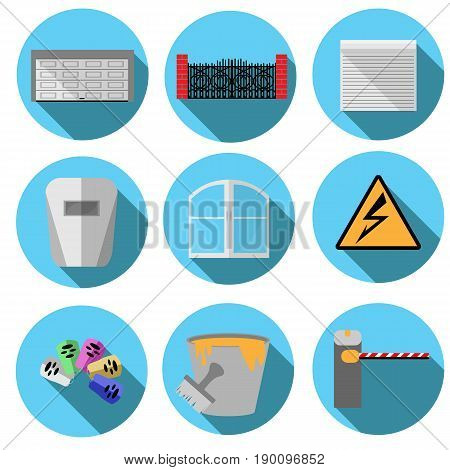 Set of vector images related to construction