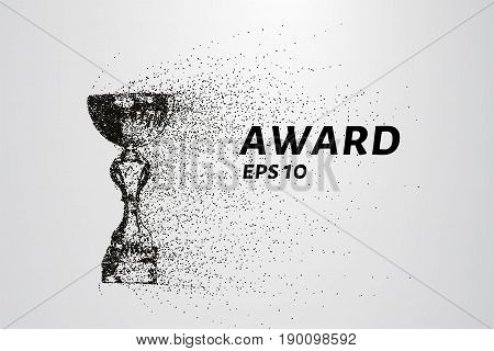 The Award Of The Particles. The Award Consists Of Circles And Points. Vector Illustration.