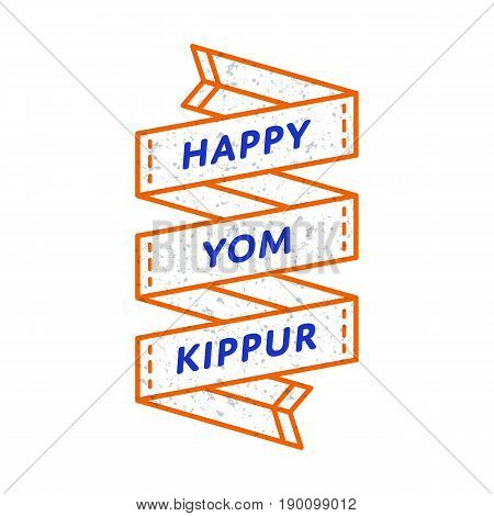 Happy yom kippur vector photo free trial bigstock happy yom kippur emblem isolated vector illustration on white background 29 september jewish traditional holiday m4hsunfo