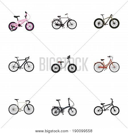Realistic Bmx, Childlike, Extreme Biking And Other Vector Elements. Set Of  Realistic Symbols Also Includes Cyclocross, Equilibrium, Old Objects.