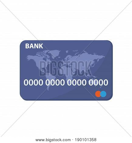 Credit Card Icon Isolated on white. Credit card. Online payment. Cash withdrawal. Financial operations. Vector stock.