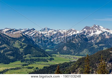 View from Aggenstein towards Allgau Alps, Germany