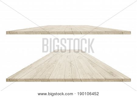 Empty wood table surface for product placement or montage design. Wood table perspective. Wood table surface. Rustic wood table surface. Large dinner or office wood table perspective. Wood table texture background. Wood table perspective worktop surface.