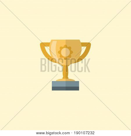 Flat Icon Motivation Element. Vector Illustration Of Flat Icon Championship Isolated On Clean Background. Can Be Used As Trophy, Motivation And Championship Symbols.
