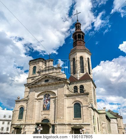 The Cathedral-Basilica of Notre-Dame de Quebec in Canada