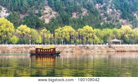View Of Ship In Yi River And Green East Hill