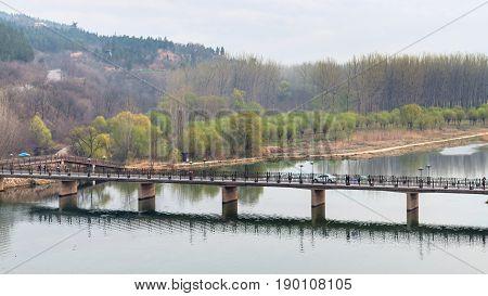 View Of Manshui Bridge On Yi River In Spring