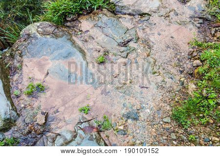 Wet Footpath On Terraced Hill In Dazhai