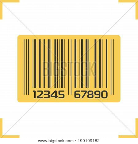 Bar code color icon. Isolated vector illustration