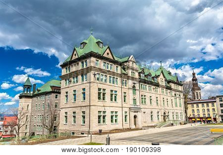 The City Hall of Quebec City in Canada