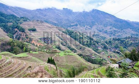 View Of Terraced Grounds In Dazhai Country