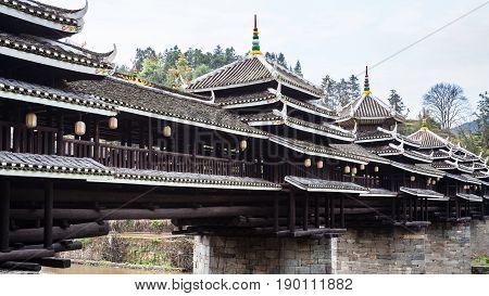 Exterior Of Dong Chengyang Wind And Rain Bridge