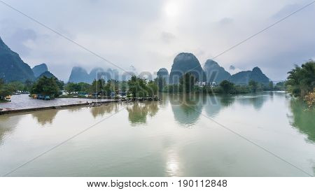 Yulong And Jinbao Rivers And Karst Mountains