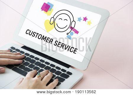 Customer Service Interaction Help Concept