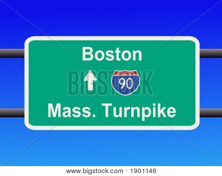 Massachusetts Turnpike Sign