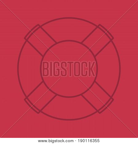 Life ring color linear icon. Life buoy. Thin line contour symbols on color background. Vector illustration