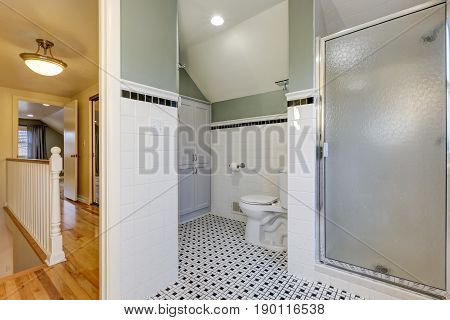 Bathroom Features Subway Tiled Half Walls