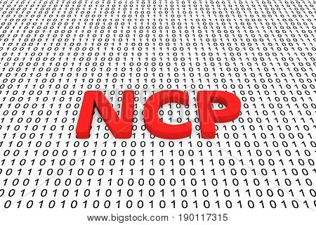 NCP in the form of binary code, 3D illustration