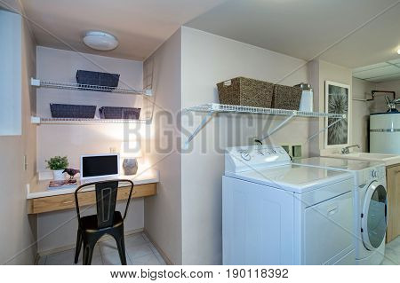 Laundry Room And Office Combo