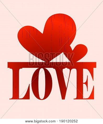creative writing letters word love with a heart print