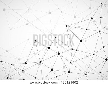 Abstract Geometric Background With Connecting Dots And Lines. Modern Technology Concept. Polygonal S
