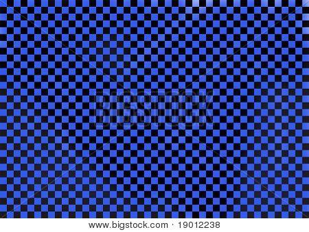 Black and blue checkered design