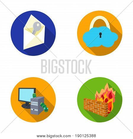 System, internet, connection, code .Hackers and hacking set collection icons in flat style vector symbol stock illustration .