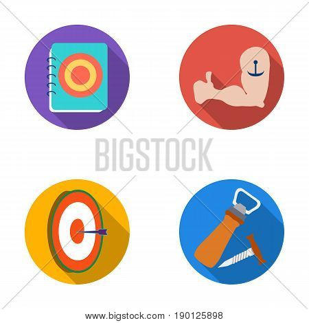 Restaurant, cafe, chair, bowling ball .Pub set collection icons in flat style vector symbol stock illustration .
