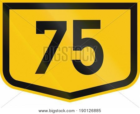 Road Marker For Municipal Road Dc 75 In Romania