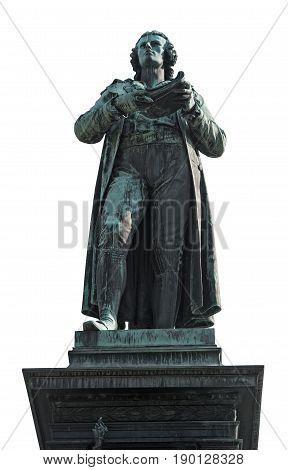 Statue of Friedrich Schiller in vienna, isolated