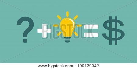 Transform idea into business concept. Stock vector illustration for poster, greeting card, website, ad, business presentation, advertisement design.