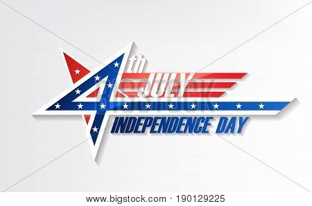 4th of July, United Stated independence day, American national day, design logo badge, vector illustration