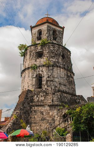 Old Historical Bell Tower Made of Coral Stones - Dumaguete City, Negros Oriental, Philippines