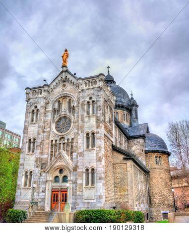 Saint Jacques Parish Church in Montreal - Quebec, Canada