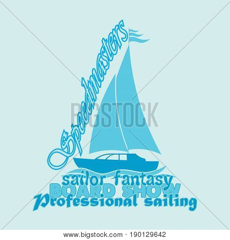 nautical design sailor vector drawing t-shirt printing badge applique label fully editable vector image