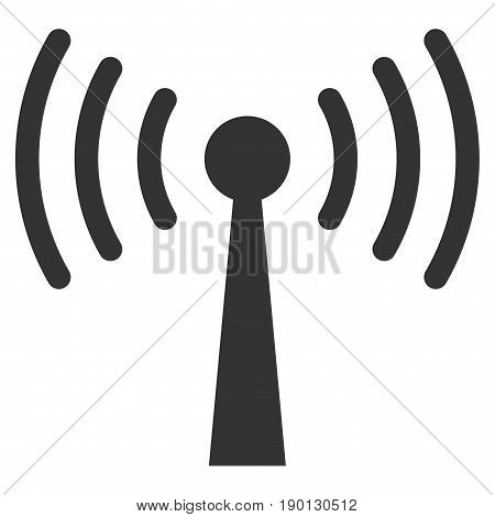 Wi-Fi Station vector icon. Flat gray symbol. Pictogram is isolated on a white background. Designed for web and software interfaces.