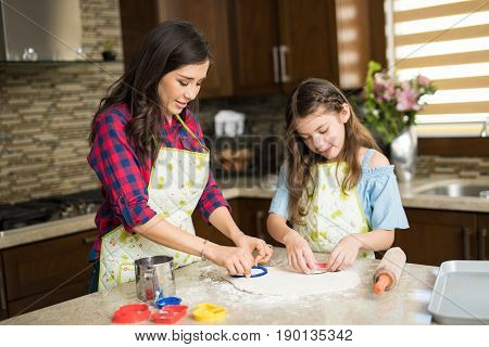 Family Of Two Cutting Cookies