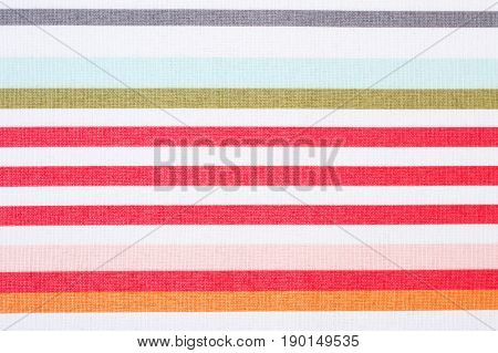 Striped Tablecloth As Background Or Backdrop