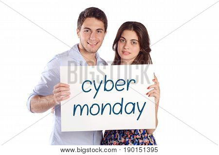 Couple Holding Cardboard With