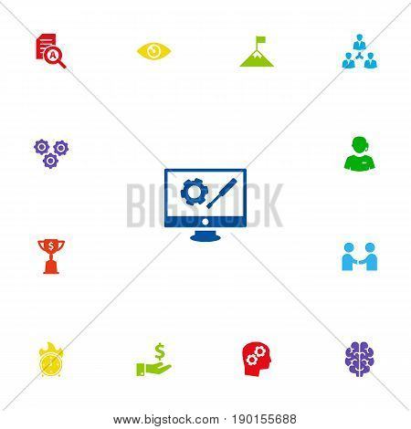 Set Of 13 Idea Icons Set.Collection Of Unity, Sponsor, Meeting And Other Elements.