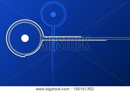 Blue Technology Node Background