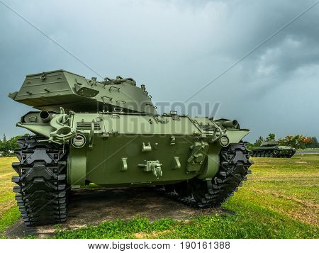 powerful military tanks use for defense and attack