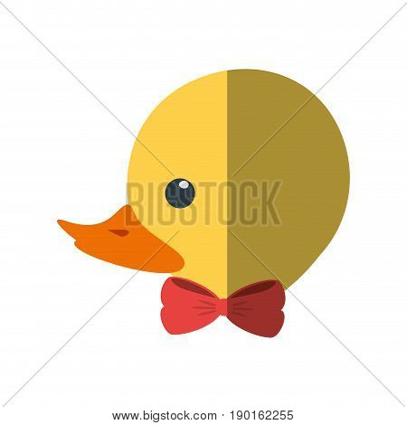 ducky toy cartoon icon vector illustration graphic design