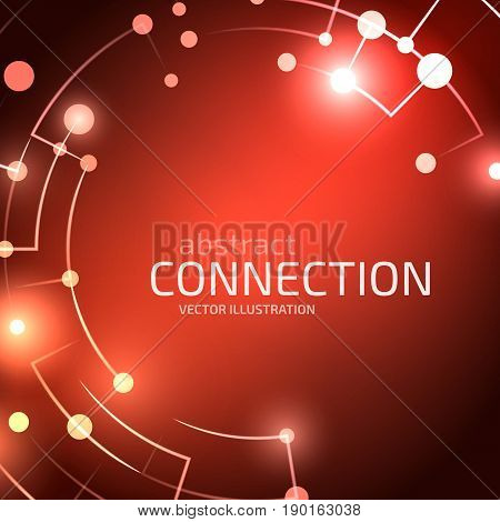 Technology network background. Abstract digital illustration. Vector connection concept. Electronic grid design. Modern lines and points composition.