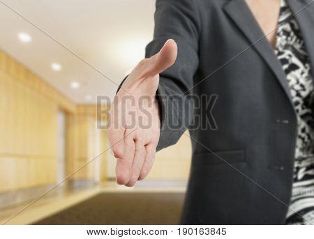 Close up of Hispanic businesswoman's hand