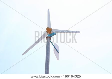 Wind turbine in the sky. Wind turbine