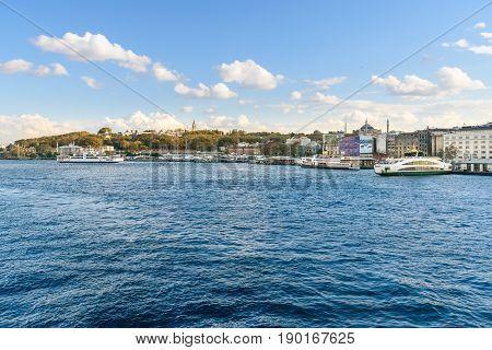 Istanbul Embankment. Turkey
