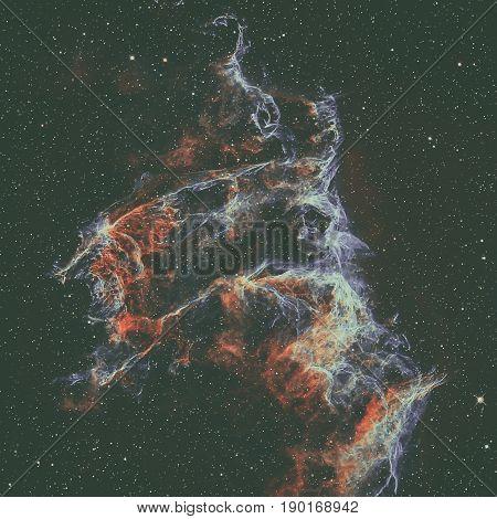 The Veil Nebula In The Constellation Cygnus.