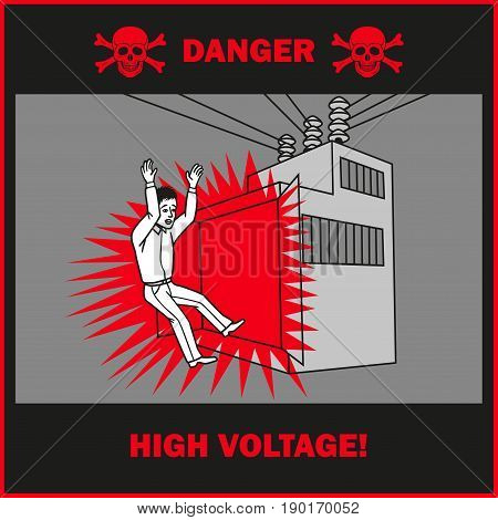 If you open a working transformer it is possible to obtain an electric shock.